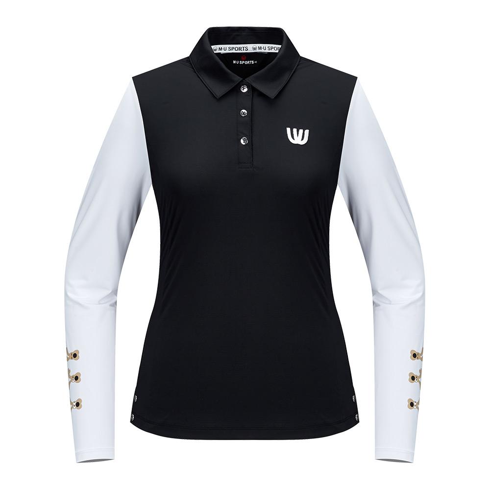 [엠유스포츠] 냉감 소매배색 제에리 티셔츠_BLK MU20322TL02