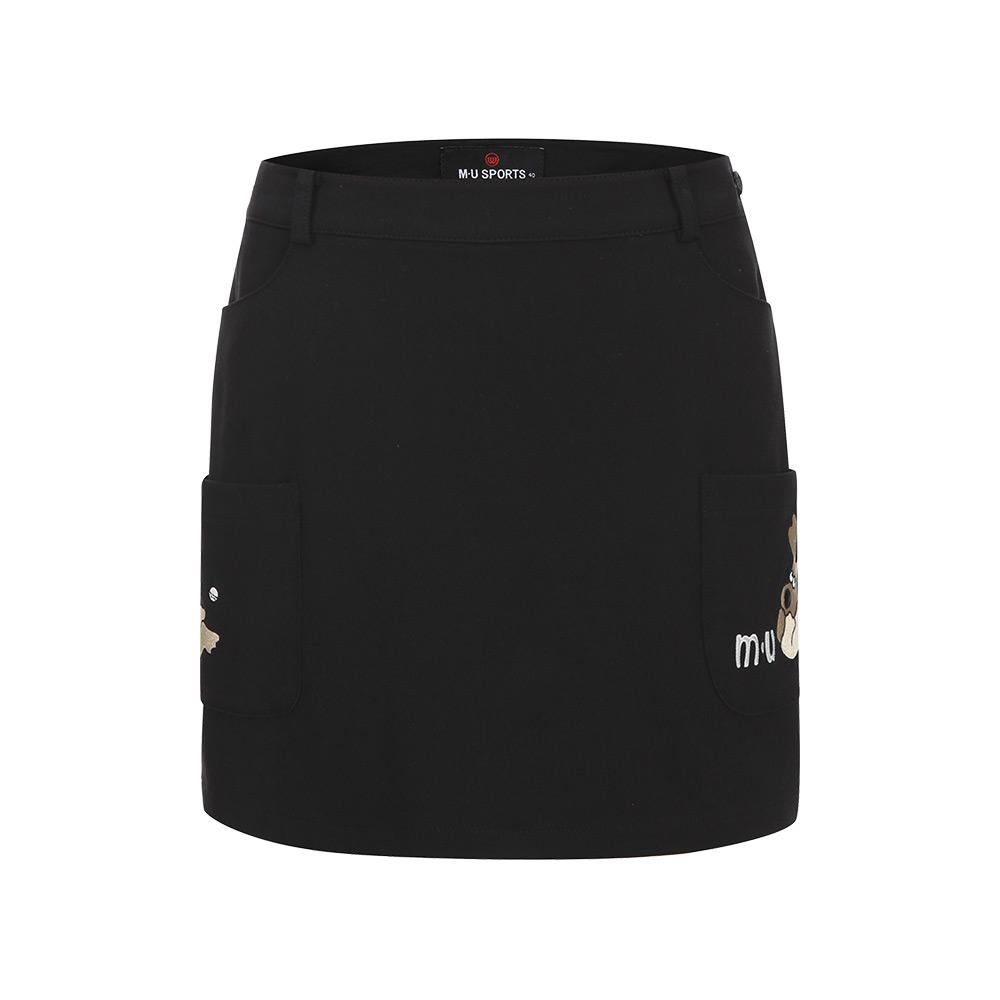 [엠유스포츠] 포켓 자수 포인트 큐롯_BLK MU20522SC02
