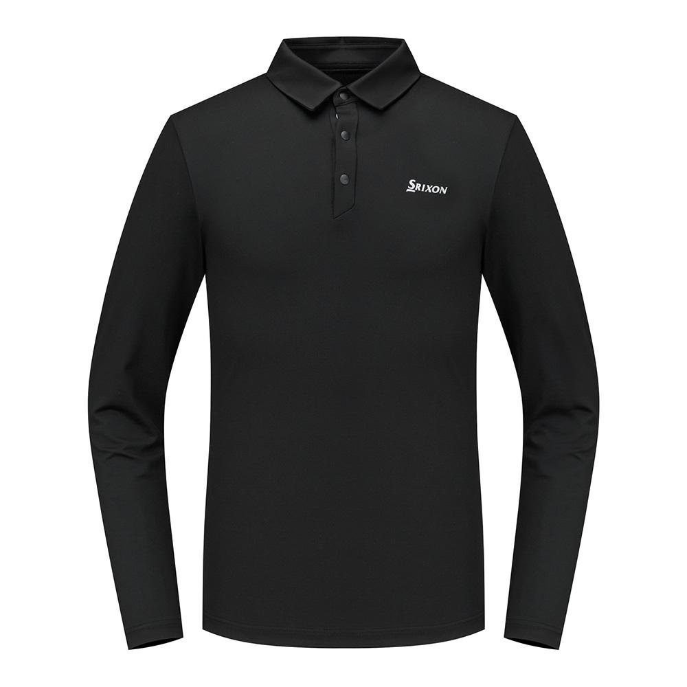 [스릭슨] 니트패치 긴팔 티셔츠_BLK SR20122TL04