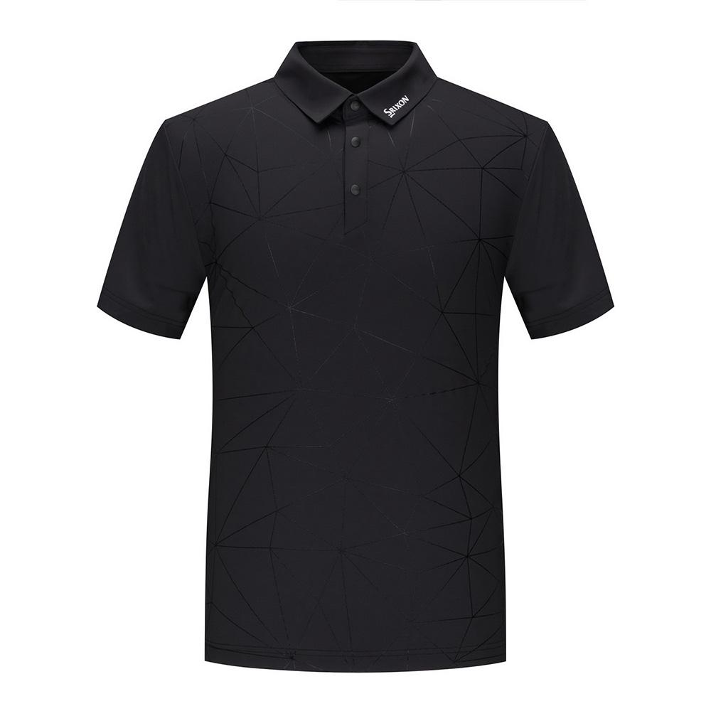 [스릭슨] 호일 프린트 반팔 티셔츠_BLK SR20122TS01