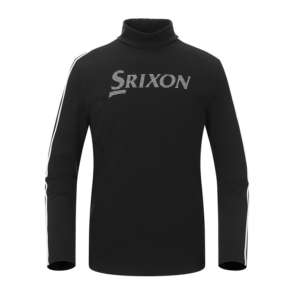 [스릭슨] Tape 장식 하이넥 티셔츠_BLK SR21122TL01