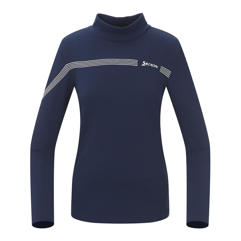 [스릭슨] 멀티 라인 하이넥 티셔츠_NAY SR21122TL51