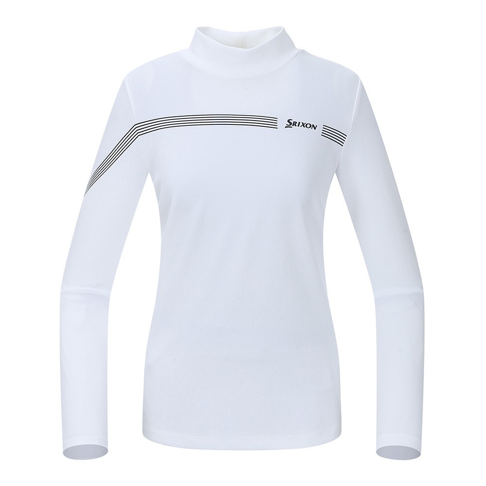 [스릭슨] 멀티 라인 하이넥 티셔츠_WHT SR21122TL51